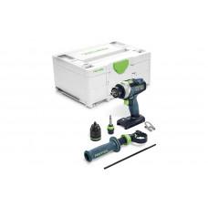 Аккумуляторная ударная дрель-шуруповёрт QUADRIVE TPC 18/4 I-Basic Festool 575604