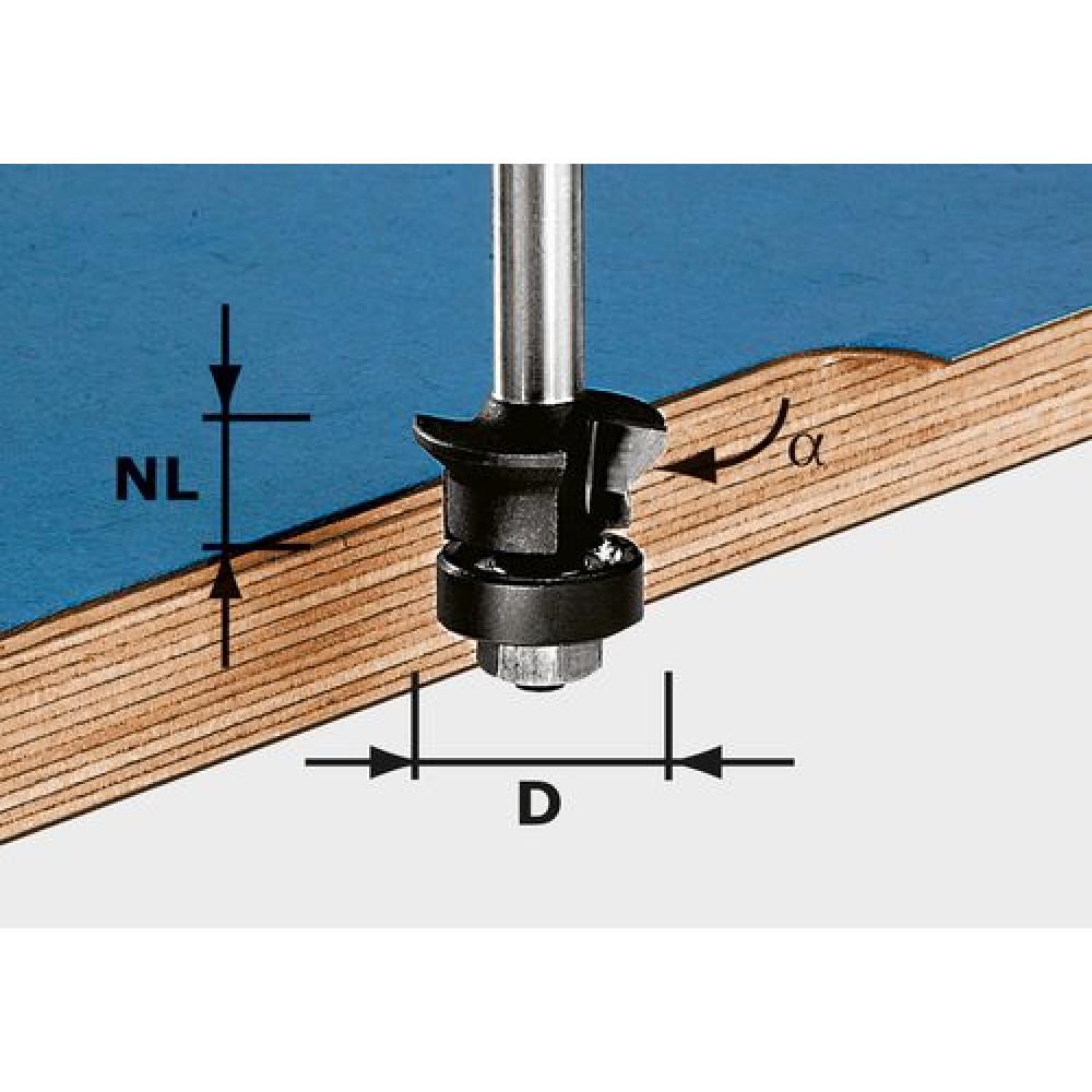Festool Фреза для зняття фаски/пригонки HW S8 D24/0° +45° 491026