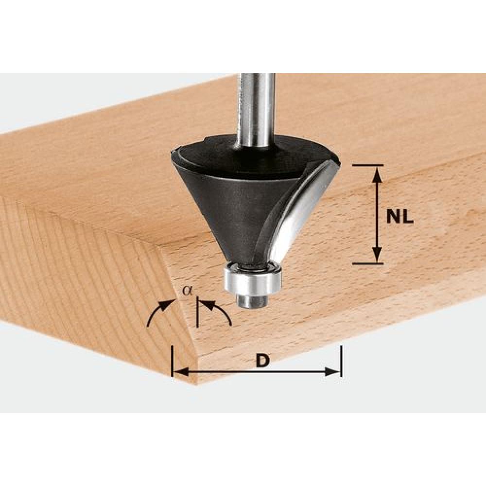 Festool Фреза для зняття фаски HW S12 D55/20/45° 491102