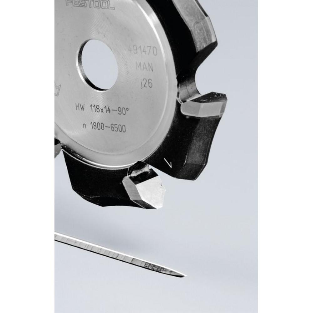Festool V-образна пазова фреза HW 118x14-90°/Alu 491470