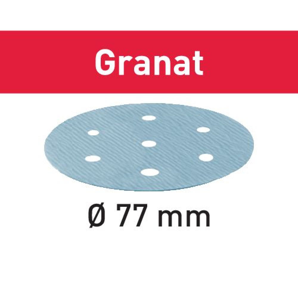 Festool Шліфувальні круги STF D77/6 P400 GR/50 Granat 497412