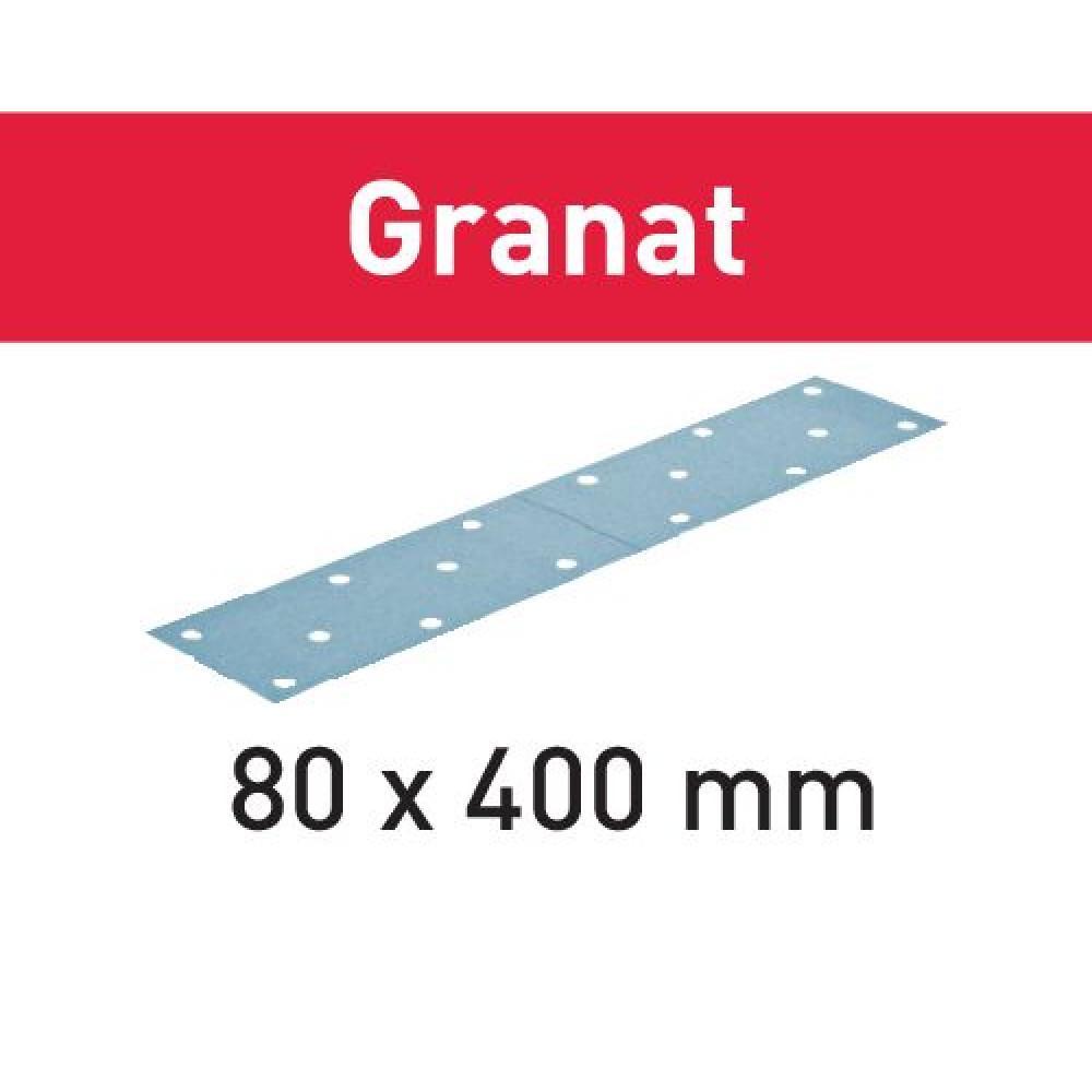 Festool Шліфувальні листи STF 80x400 P120 GR/50 Granat 497160
