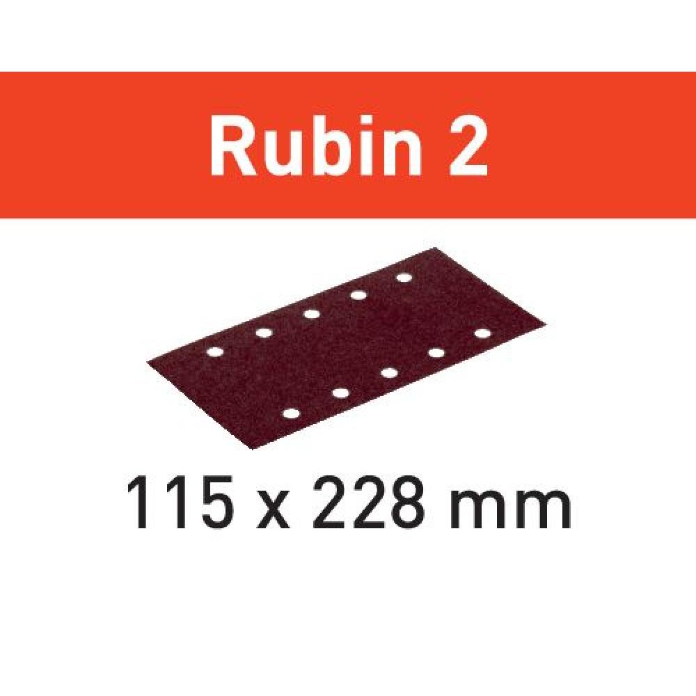 Festool Шліфувальні листи STF 115X228 P150 RU2/50 Rubin 2 499035
