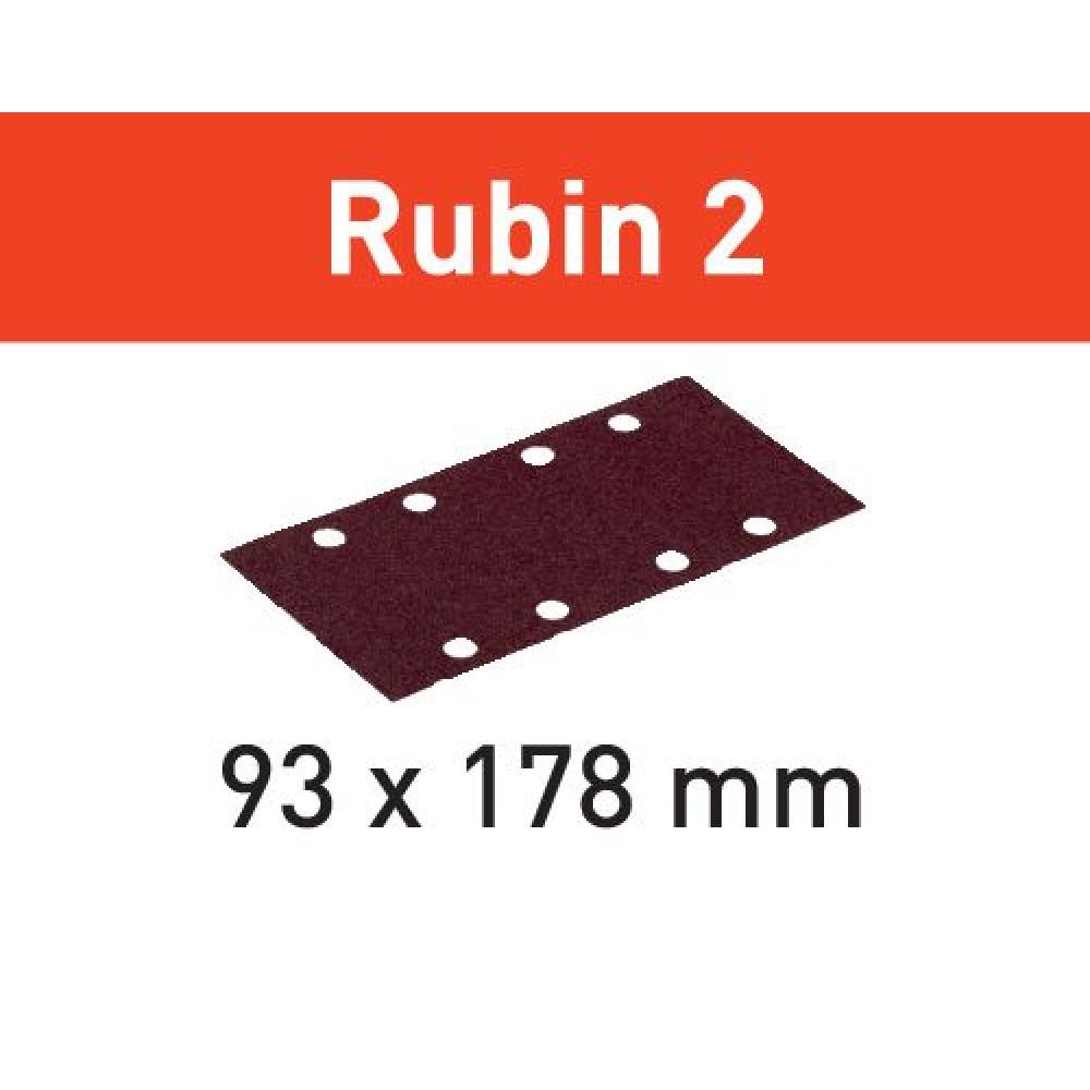 Festool Шліфувальні листи STF 93X178/8 P150 RU2/50 Rubin 2 499066