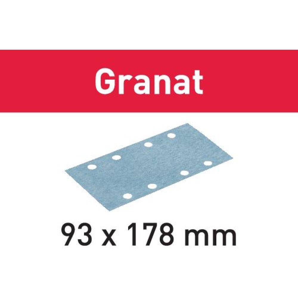 Festool Шліфувальні листи STF 93X178 P180 GR/100 Granat 498938